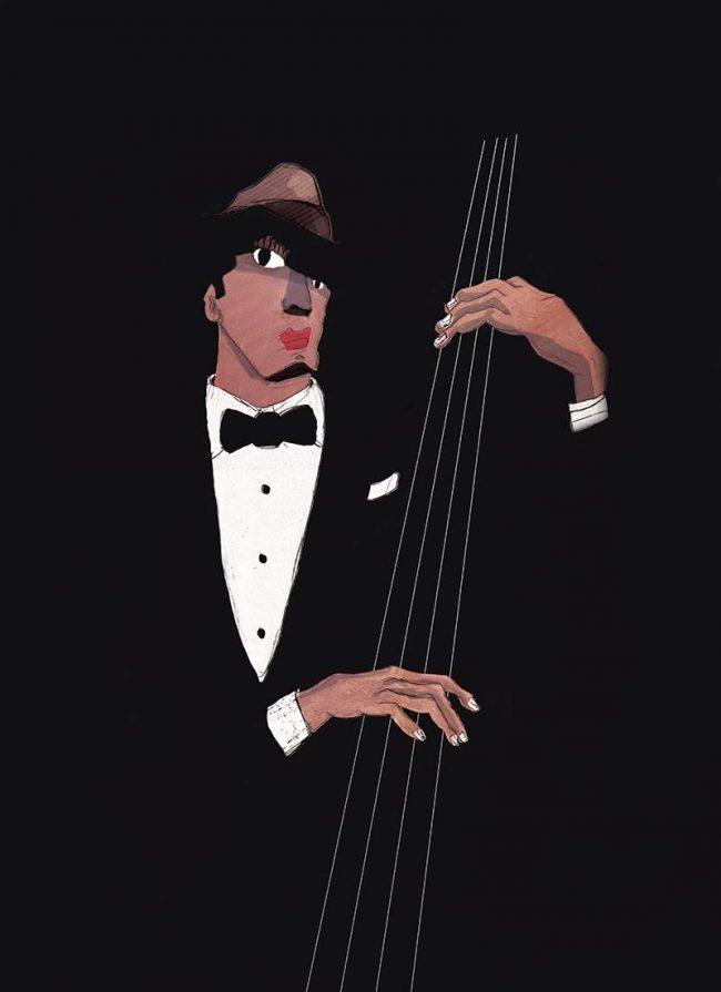 Jazzarama jazz festival music digital art painting - Tommy Boureaux art illustration
