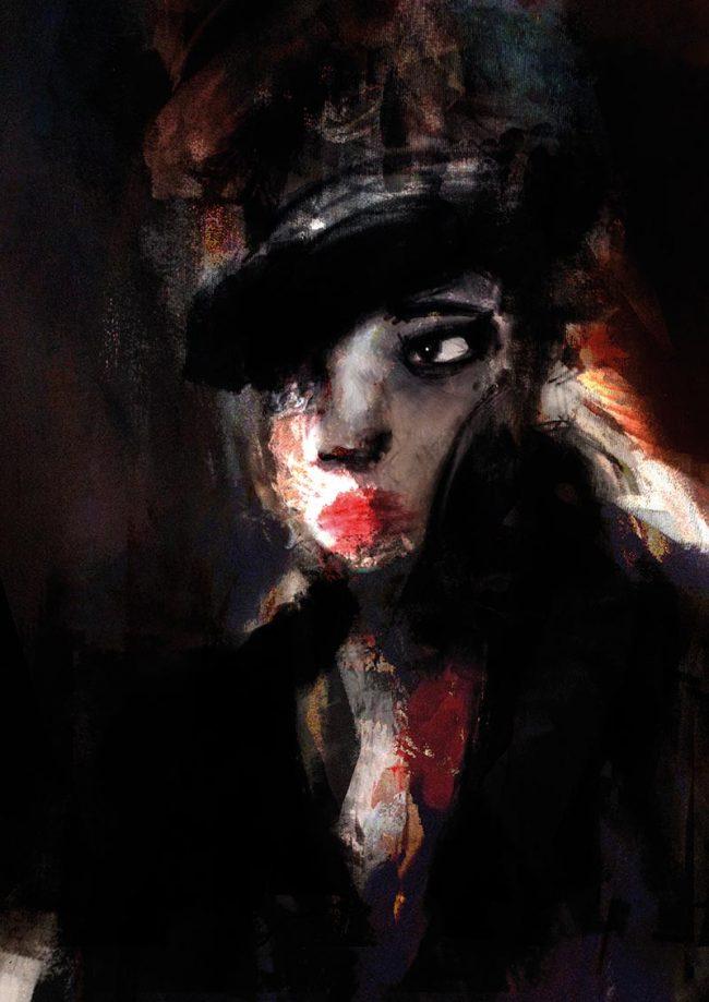 Mon âme, étincelle acrylic on canvas - Tommy Boureaux - art peinture digital