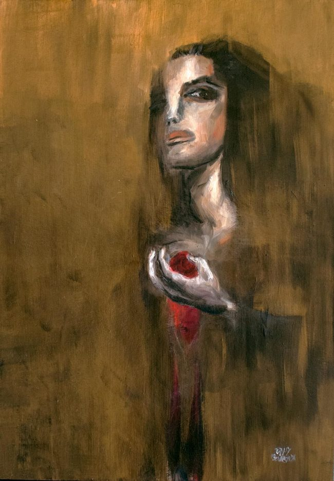 Écolosion oil painting on canvas - Tommy Boureaux - art peinture à l'huile