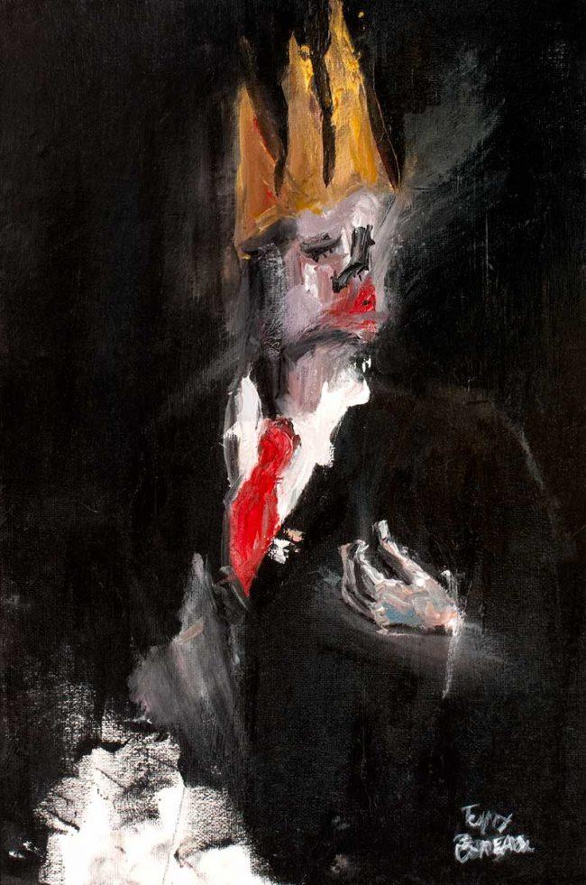 l'homme roi oil painting on canvas - Tommy Boureaux - art peinture à l'huile