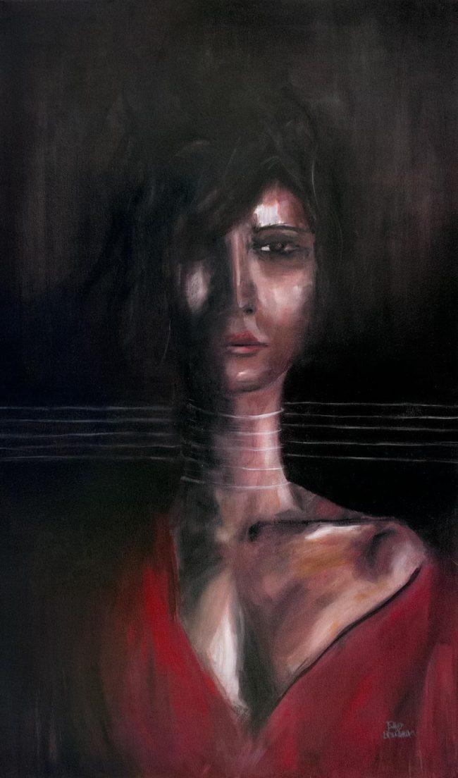 Pensée oil painting on canvas - Tommy Boureaux - art peinture à l'huile